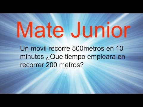 Ejercicio de regla de tres simple directa Sigueme en facebook y YouTube como Mate Junior