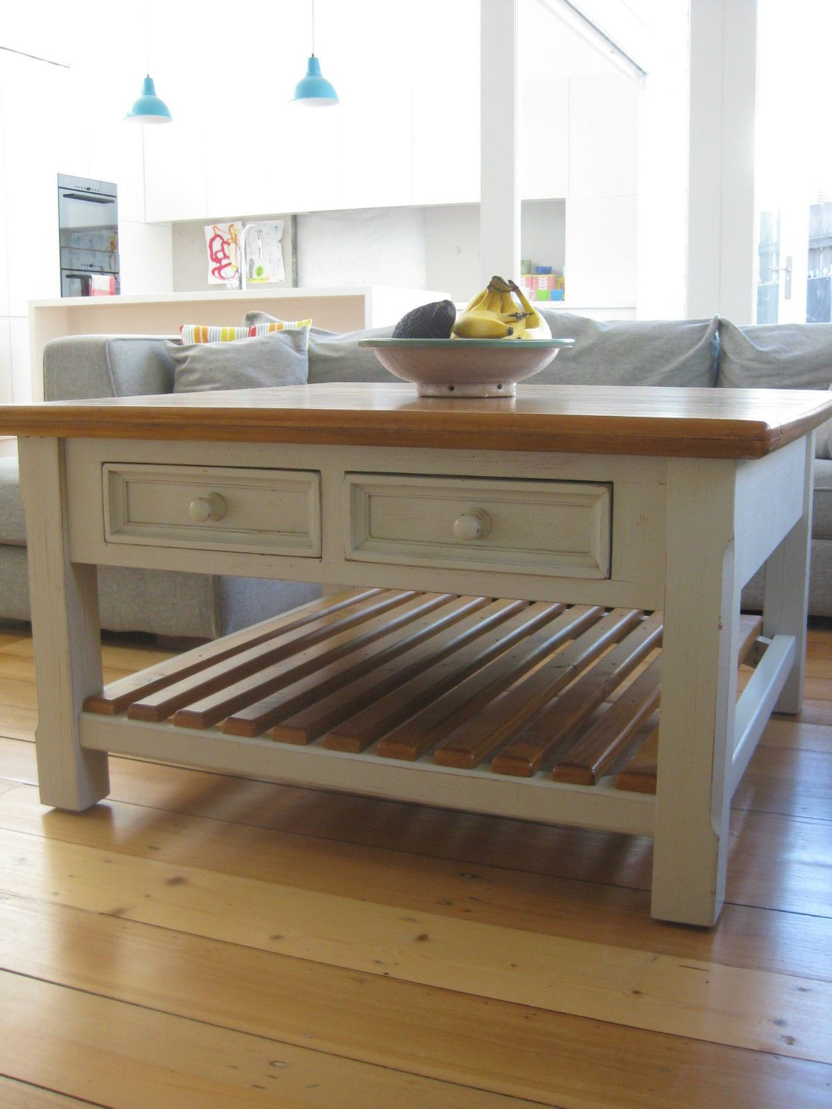 French provincial beach house rustic farmhouse timber coffee table french provincial beach house rustic farmhouse timber coffee table in sydney nsw ebay geotapseo Images