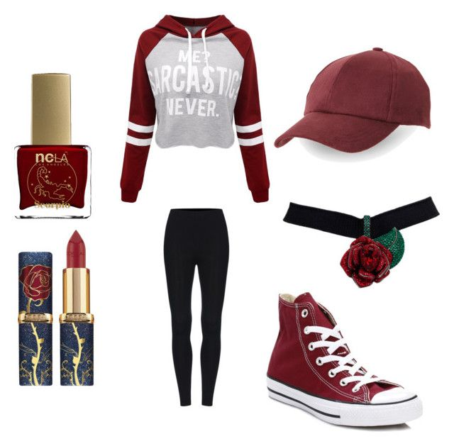 """""""Scorpio"""" by small-and-cute on Polyvore featuring ncLA, WithChic, C-LECTIVE and Converse"""
