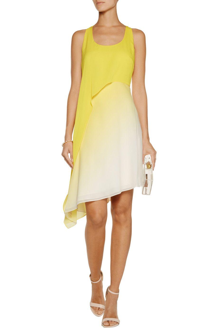 ca24237689 Asymmetric ombré crepe mini dress   Halston Heritage   HK   THE OUTNET