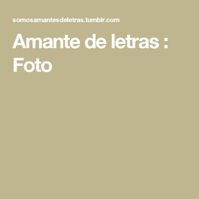 Amante de letras : Foto