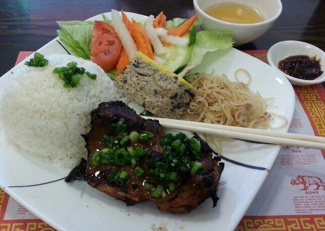 Com Tam Ga Nuong Bi Cha