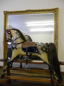 A Wonderful Example Of A Norton Barker Antique Rocking Horse With Much Originality Antique Rocking Horse Antique Horse Rocking Horse
