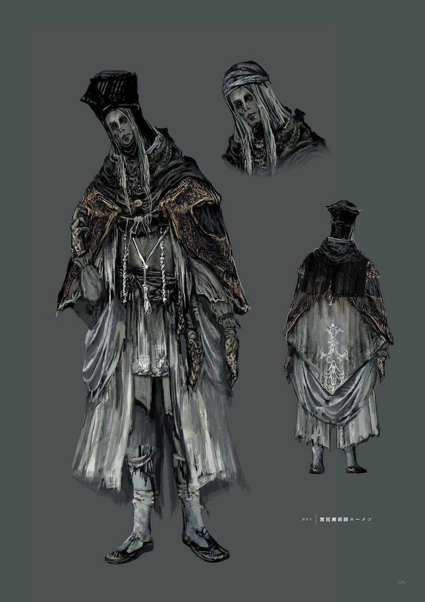 Dark Souls 3 Concept Art - Npc Videogame