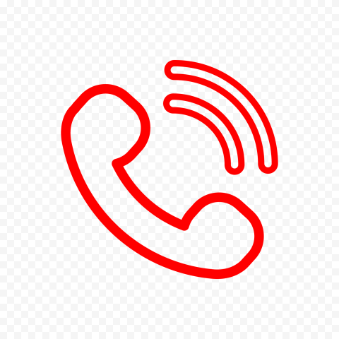 Hd Red Outline Phone Icon Png In 2021 Phone Icon Icon Outline