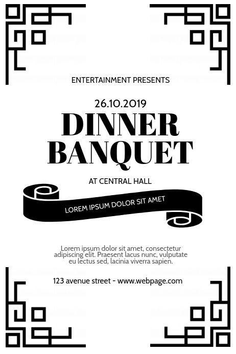 Dinner Banquet Event Flyer Design Template  #Banquet #Design #dinner #Event #flyer #Template