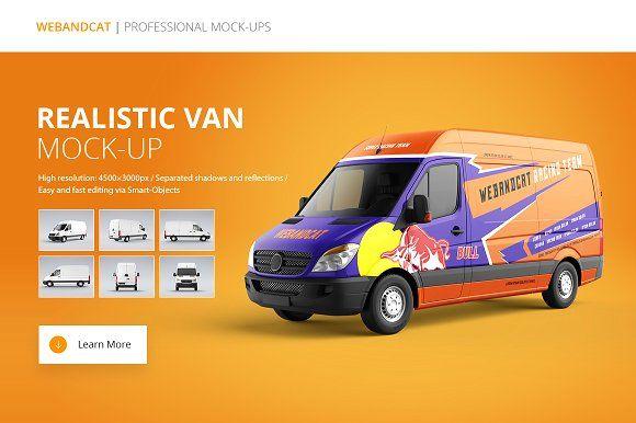 Van Mock Up Mocking Mockup Design Mockup