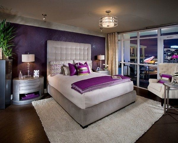 Bedroom Purple A Cool Decoration