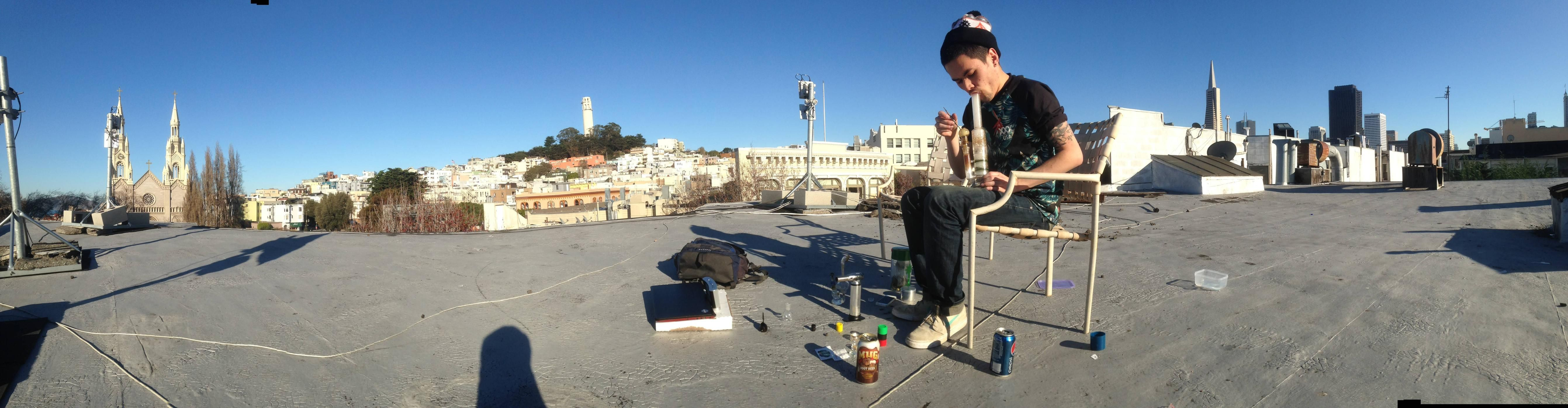 Smoke spot of the day. Roof dabs in SF. - http://potterest.com/pin/smoke-spot-of-the-day-roof-dabs-in-sf/