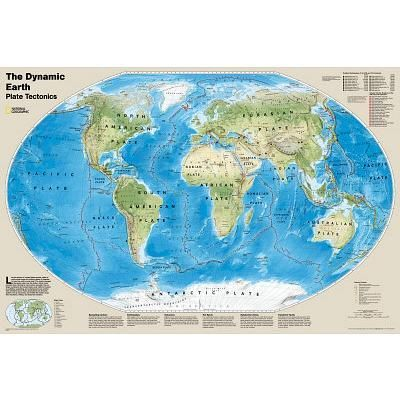 Dynamic earth plate tectonics world map poster 22x36 ebay world dynamic earth plate tectonics world map poster 22x36 ebay gumiabroncs Gallery