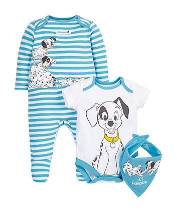 Disney 101 Dalmatians Set 3 Piece Disney Baby Clothes Baby Outfits Newborn Baby Boy Outfits