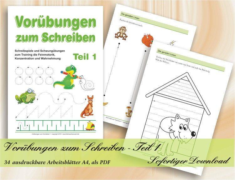 Vorübungen zum Schreiben - Teil 1 | Schreibspiele und Schwungübungen ...