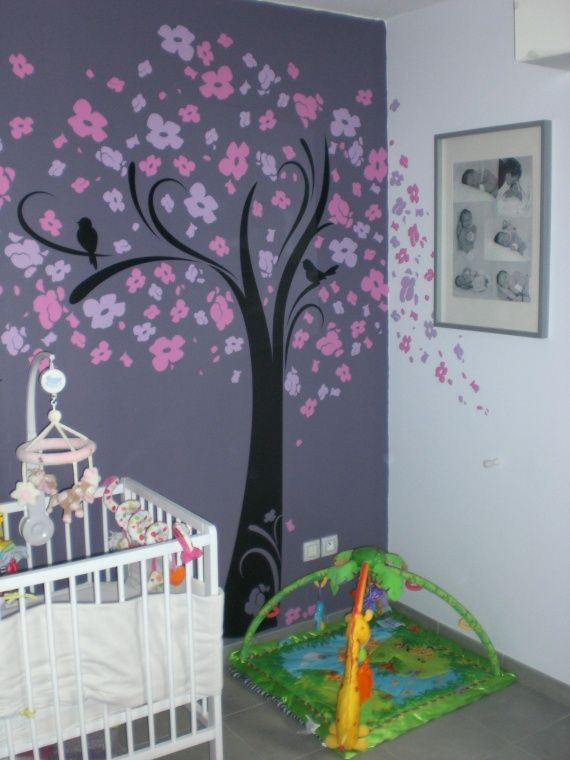 1000 images about chambre bb fille on pinterest - Chambre Rose Et Violet