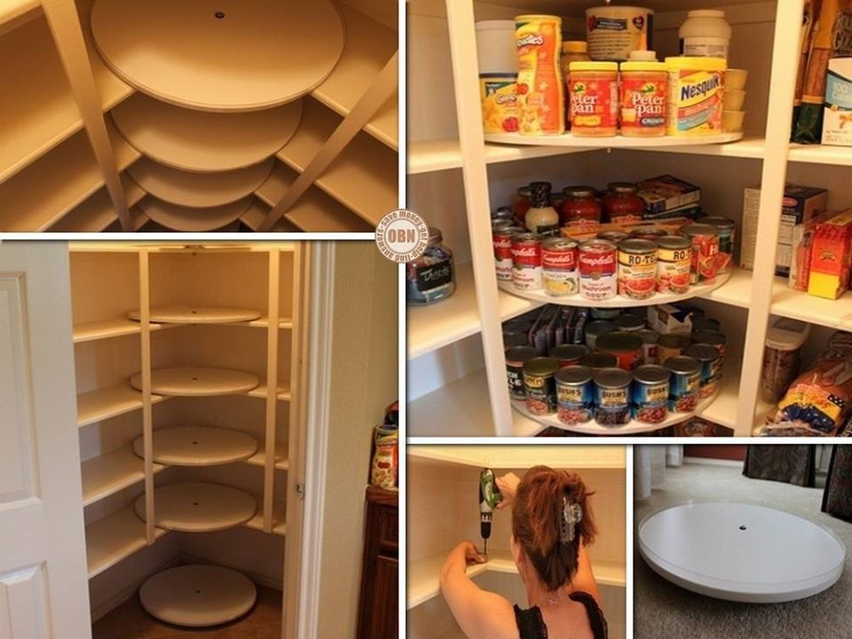 DIY Great Lazy Susan Pantry Makeover: Change Your Corner Cabinet Pantry  Storage Into Lazy Susan Style For Display And Turnable.