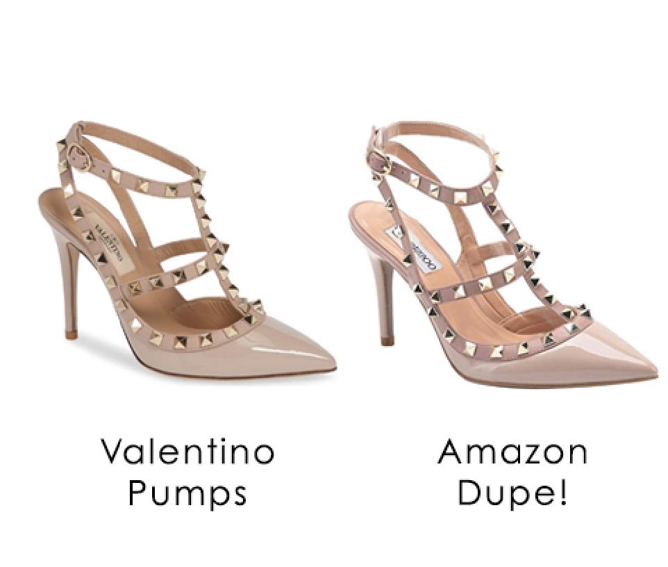 d60b48b17b13 Valentino Pumps Dupe!!! Valentino pumps knockoff, amazon dupes, amazon  knock offs, valentino heels, cheap heels, cheap pumps, studded pumps