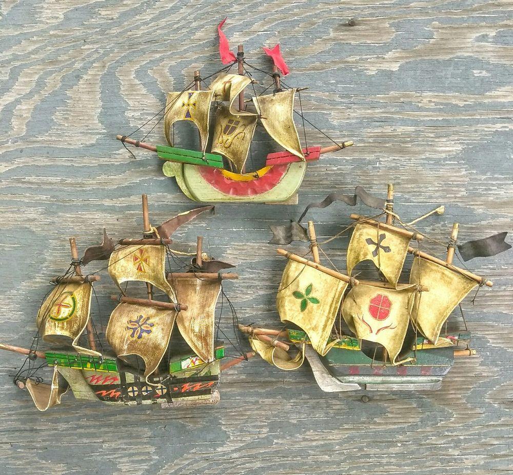 BUSTED Nina Pinta Santa Maria Replica Model Ships Maritime