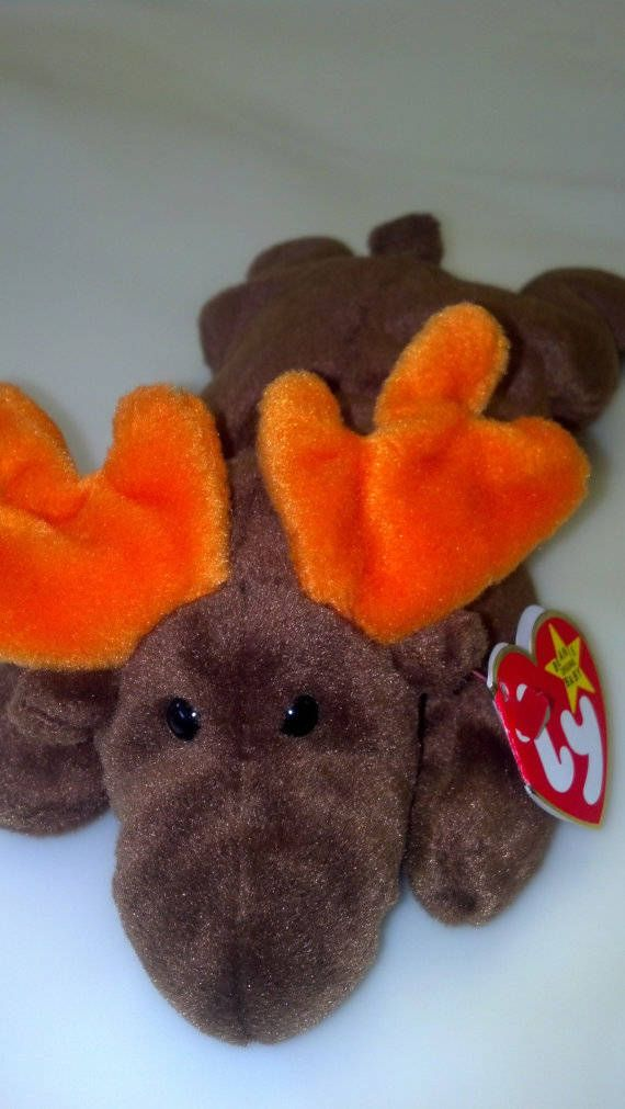82c0bb28aa6 Chocolate the Moose   RARE Vintage 1993   Original 9 TY Beanie Baby Release    PVC Pellets No Star