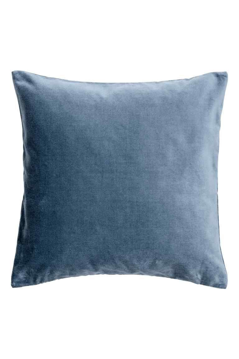 Velluto Blue Velvet Pillow Cover