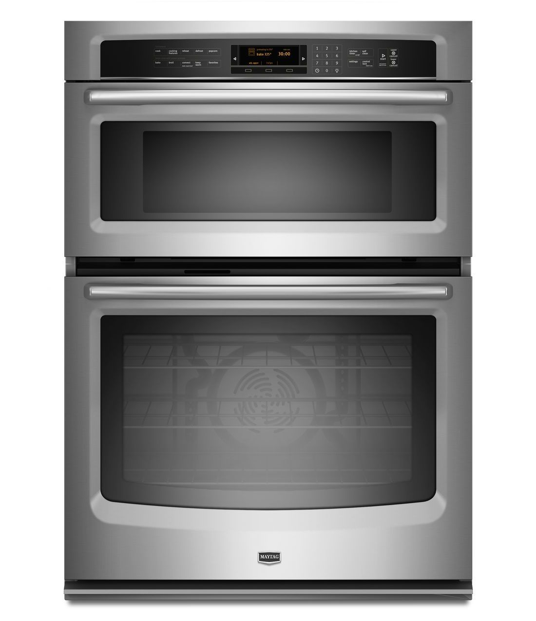 30 Inch Electric Combination Wall Oven And Microwave Mmw9730as