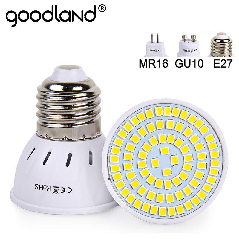 Goodland E27 LED Lamp 220V 240V MR16 GU10 LED Bulb LED Spotlight ...