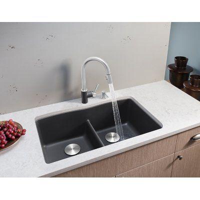 Blanco Diamond 32 L X 19 W Double Basin Undermount Kitchen Sink