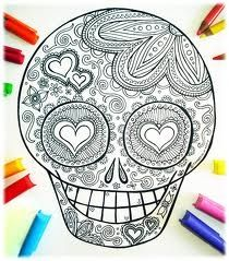 Skull coloring page would be great kid activity for a Halloween