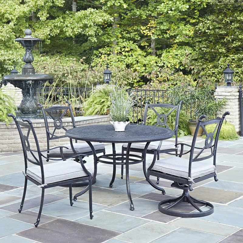 The Lansdale Collection 5 Piece Dining Set By Darby Home Co Contributes A Mediterranean  Style To Any Outdoor Living Space By Displaying A Hand Applied ...