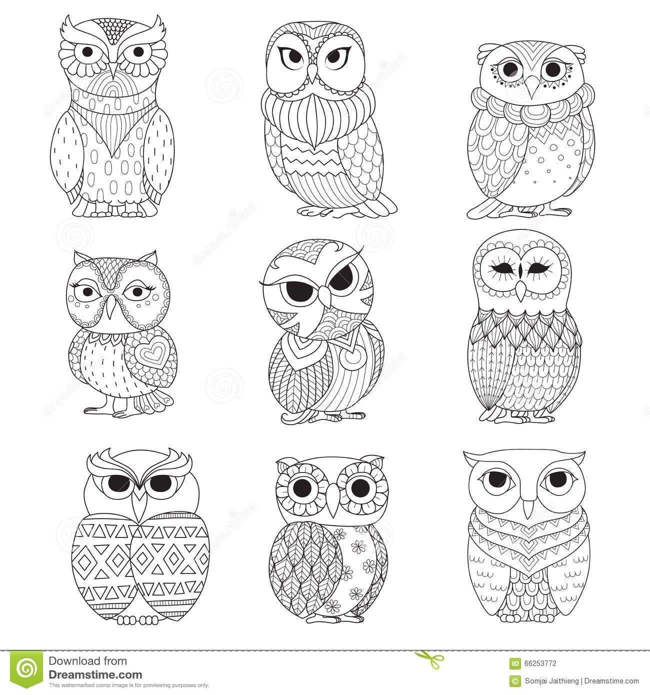 Ljudmilla kovadlo owl - Coloriage de hiboux ...