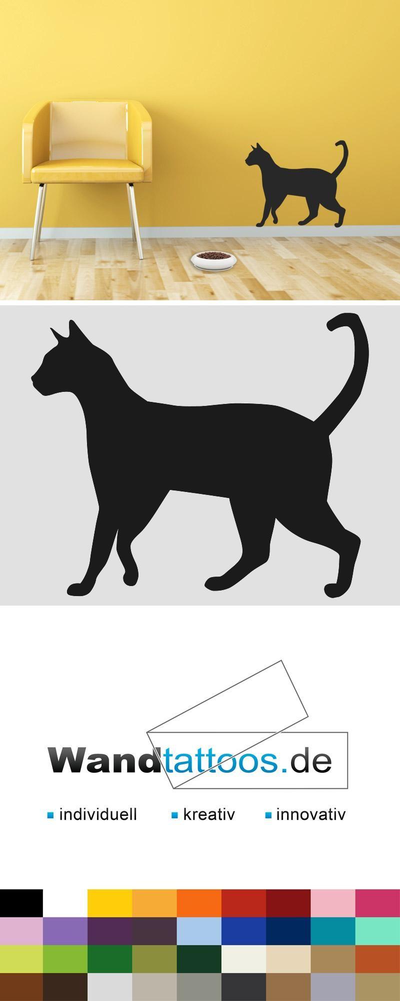 Wundervoll Wandtattoo Katzen Sammlung Von Katze Als Idee Zur Individuellen Wandgestaltung. Einfach