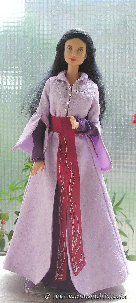 Arwen\'s farewell dress - OOAK Barbie doll free sewing pattern ...