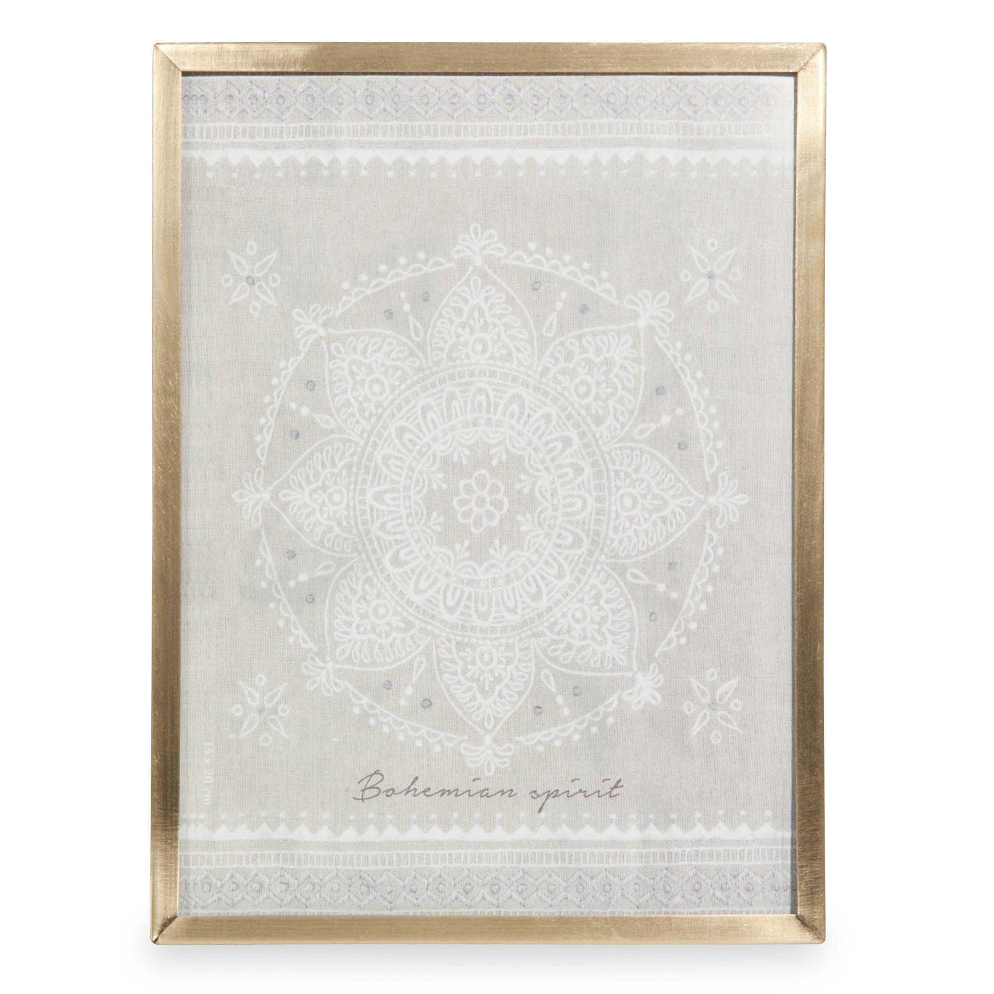 Marco mandala de metal dorado 15x20 cm MECCA | HOME | Pinterest ...