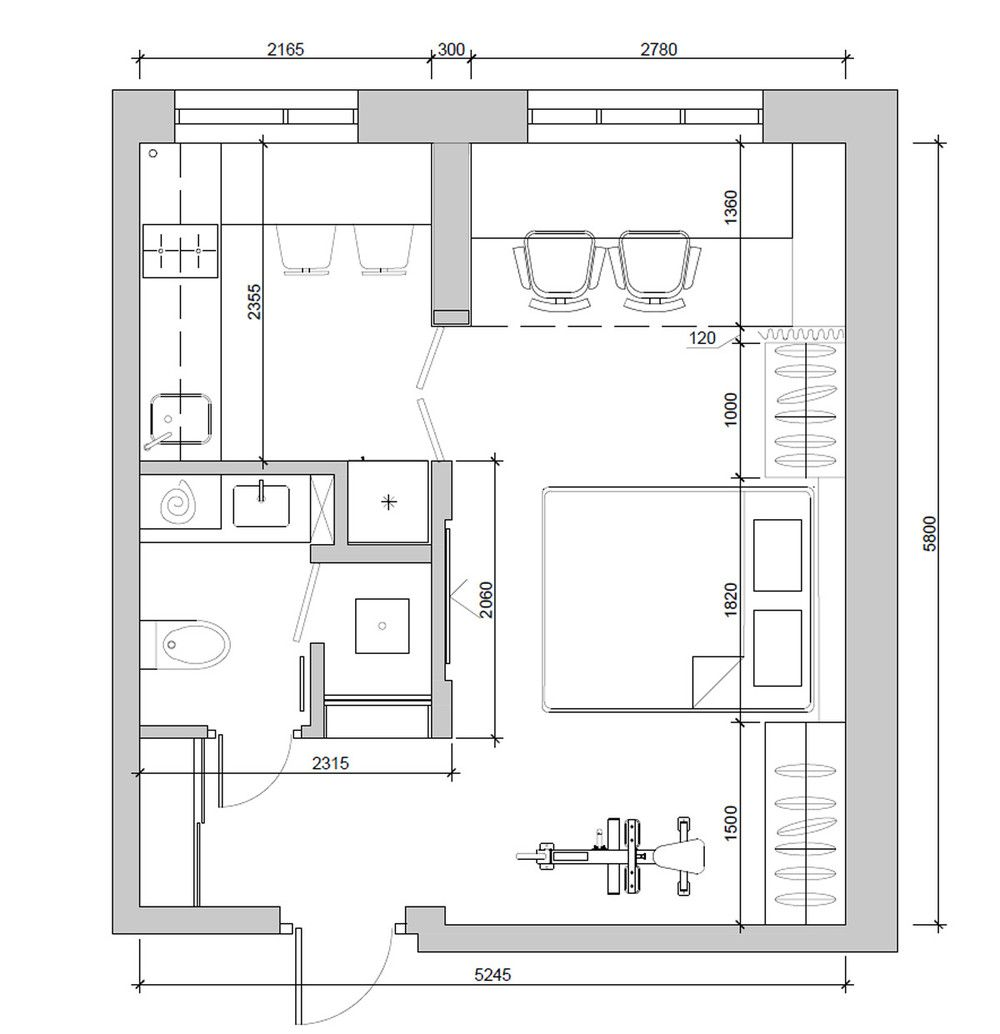 Http Cdn Home Designing Com Wp Content Uploads 2016 02 Ultra Compact Apartment Floor Studio Apartment Floor Plans Small Apartment Plans Apartment Floor Plans