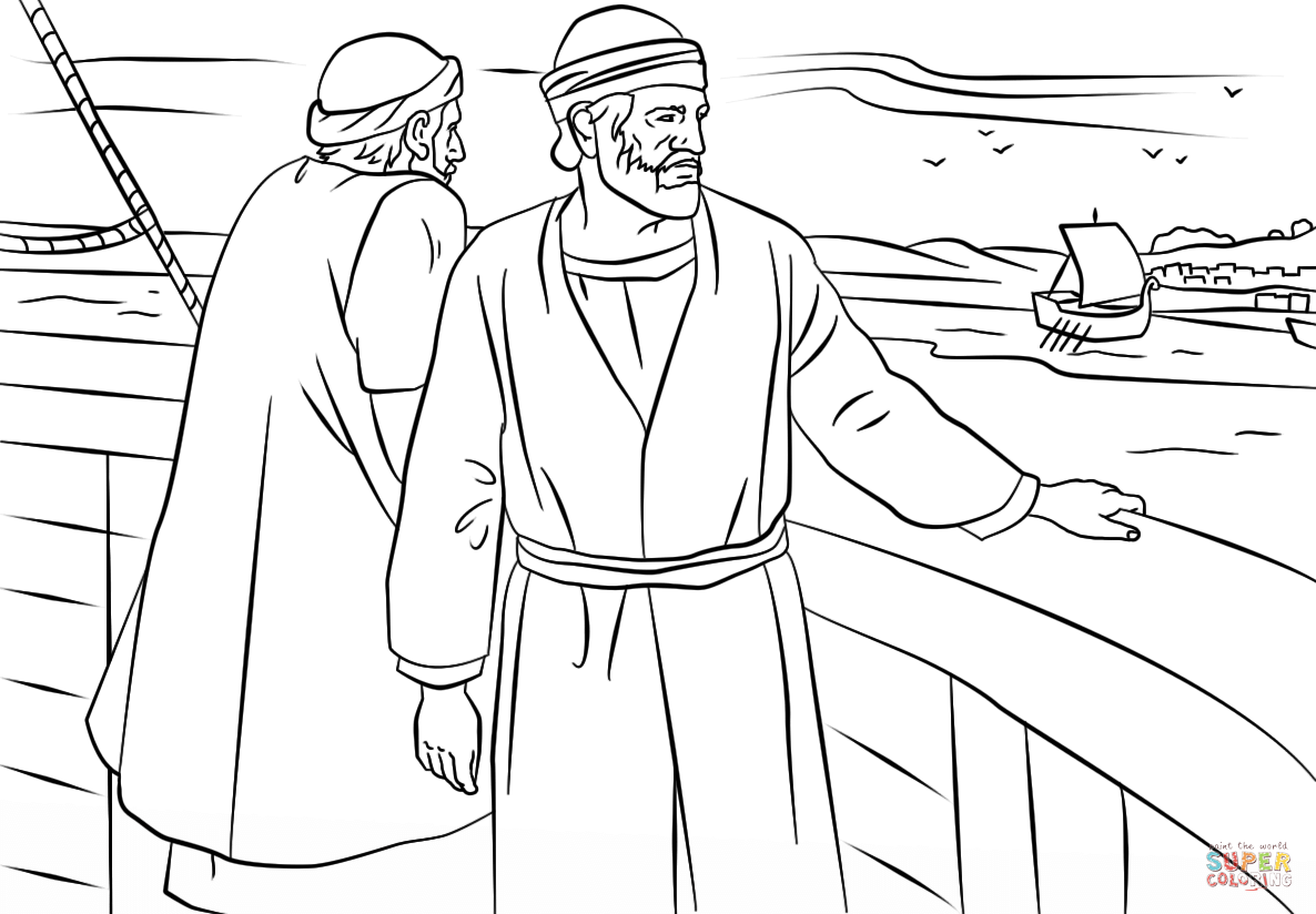 Paul And Barnabas Missionary Journey Coloring Page From The Apostle Category Select 27569 Printable Crafts Of Cartoons Nature Animals Bible