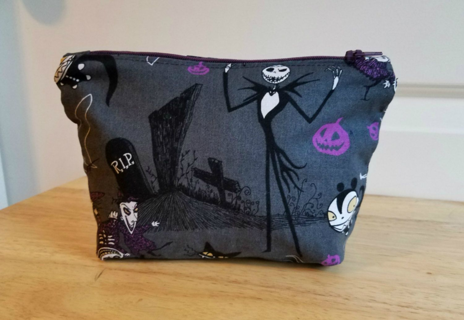 Nightmare Before Christmas Zipper Pouch/ Makeup Pouch