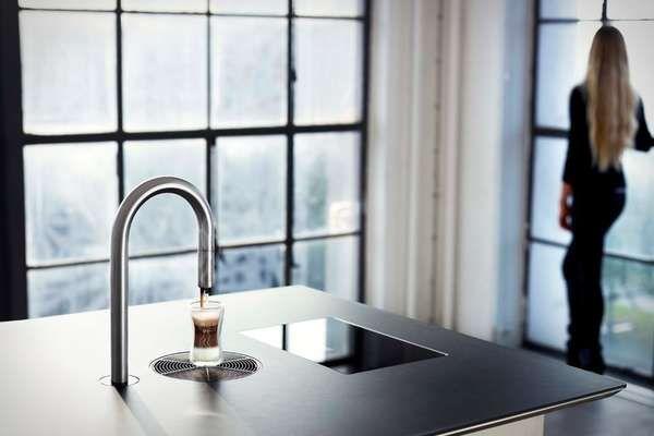 Hi Tech Coffee Taps Kitchen Innovation Faucet Coffee Making Machine
