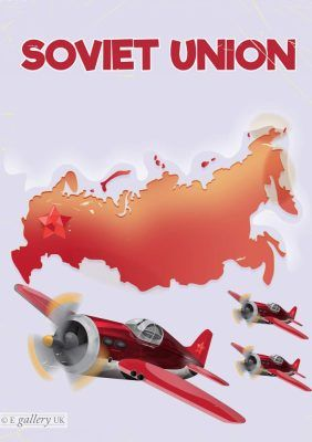 Soviet Union is a fine art giclée print of an artwork by Nick Greenaway. Printed by Mick Hodson at