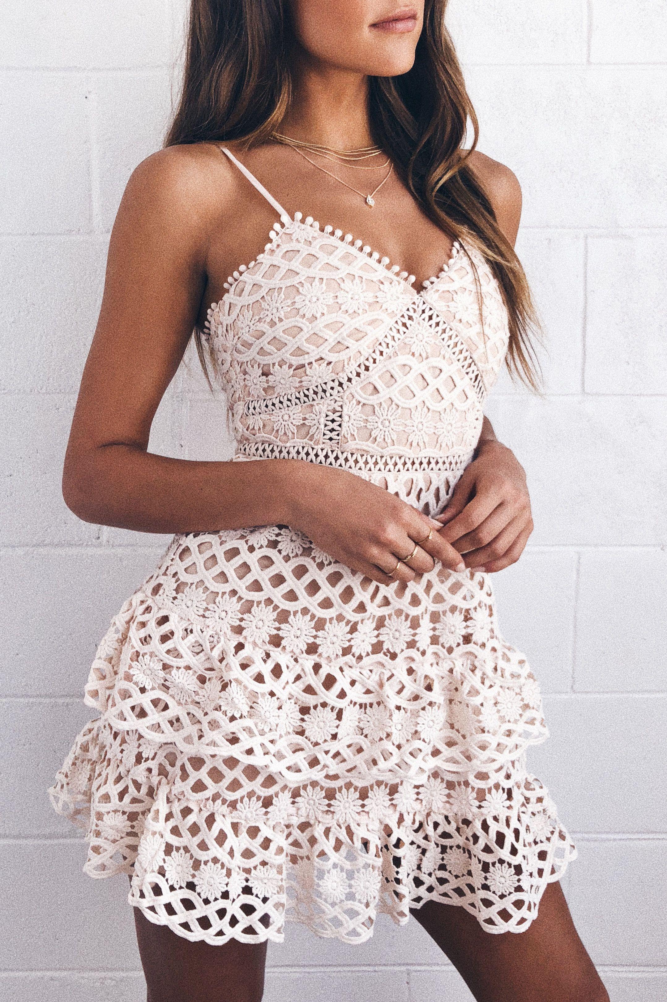Beauty And Lace Pale Blush Crochet Lace Mini Dress Fashion Fancy Dresses Lace Party Dresses
