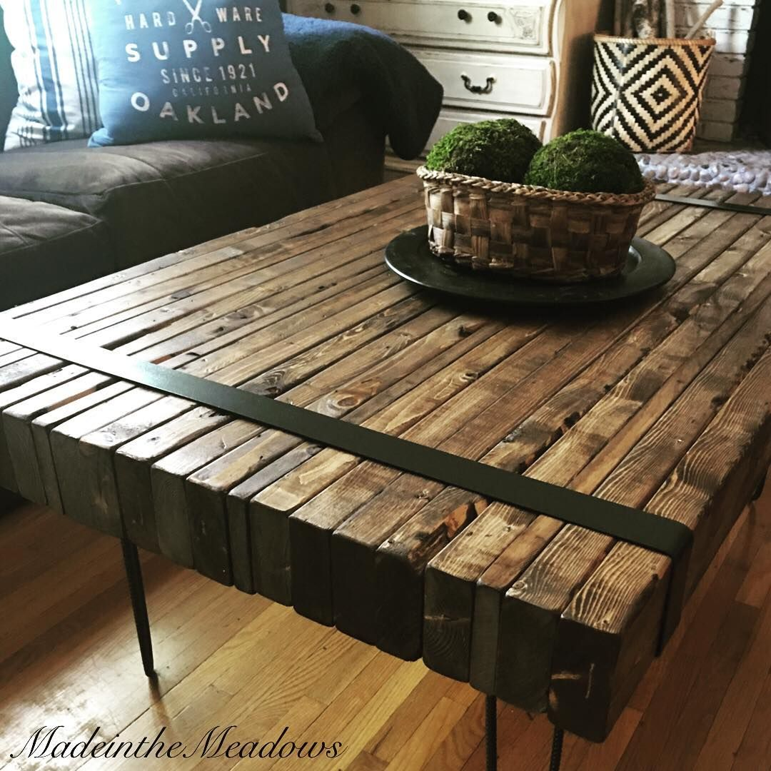 Finished My 2x4 Coffee Table Just In Time For Beautifullybuiltmonday So Happy Coffee Table Vintage Home Decor Rustic Coffee Tables [ 1080 x 1080 Pixel ]