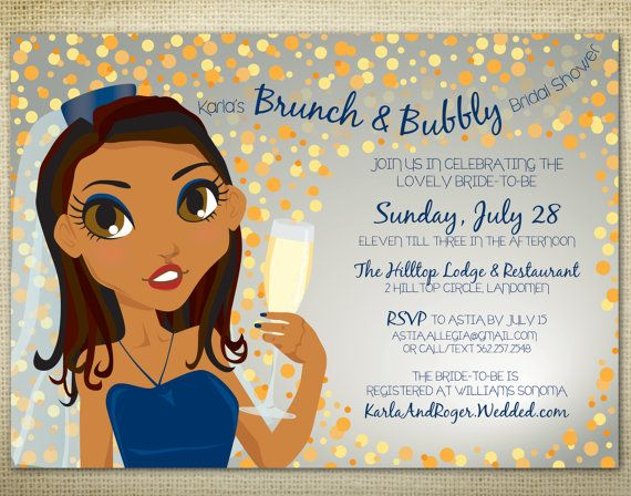 PRINTABLE Brunch & Bubbly Bridal Shower by EAlexDesigns on Etsy