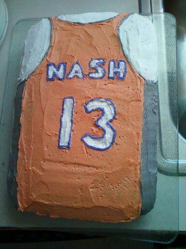 steve nash basketball jersery cake