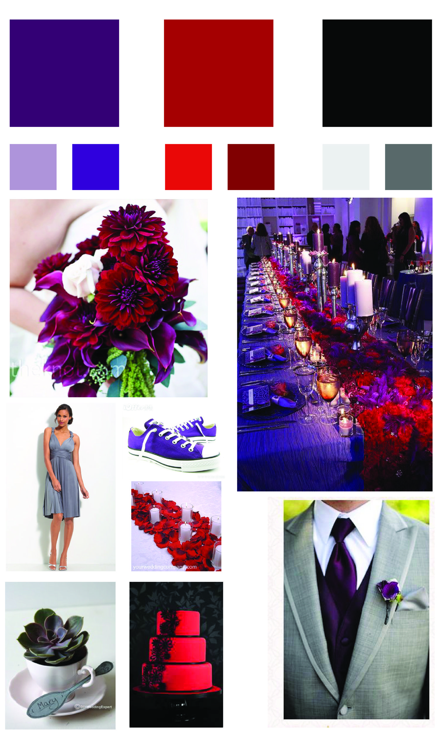 Red And Purple And Black Wedding Color Scheme Some Of My