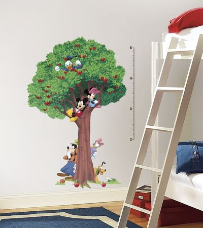 Mickey & Friends Peel & Stick Growth Chart Wall Decal at AllPosters.com