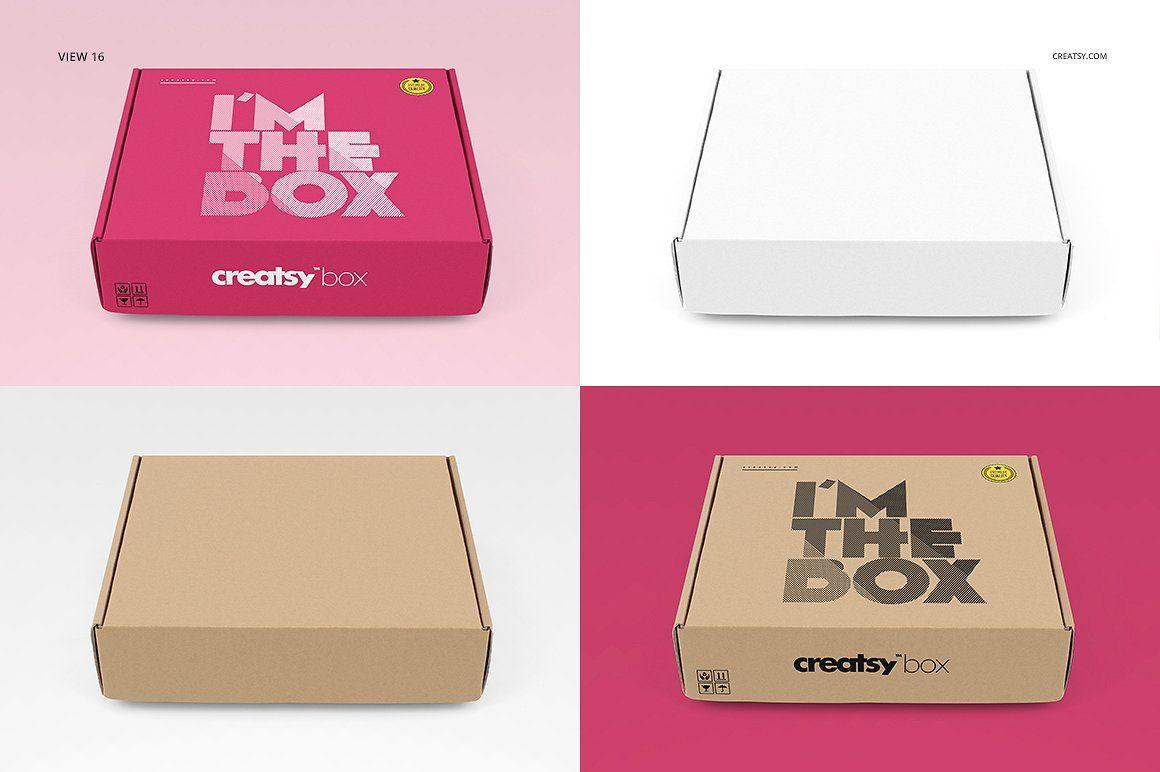 Download Mailing Box Mockup Set Box Mockup Mockup Creative Market