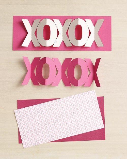 Karten Valentinstag Basteln Akkordeon Faltung Vorlagen