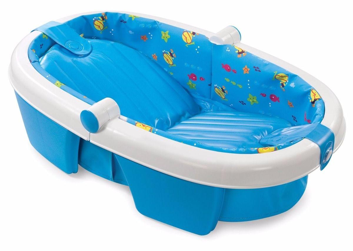 Bañera Bebe Summer Infant Azul Plegable Comodidad Envío 164 900 Tinas De Baño De Bebé Bañera Bebe Bebe