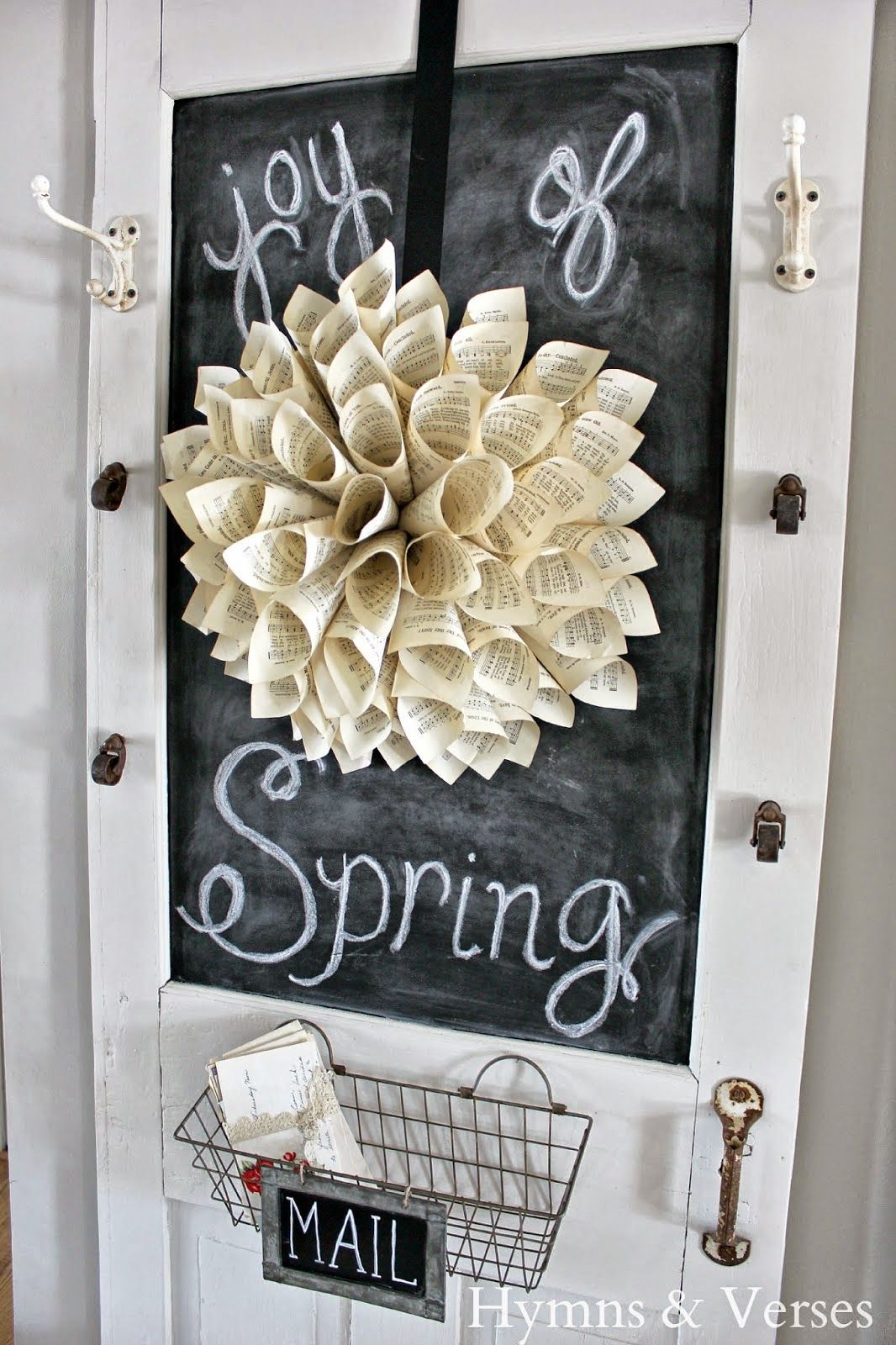 Paper Wreath With Barn Wood Frame For Sale (Hymns and Verses ...