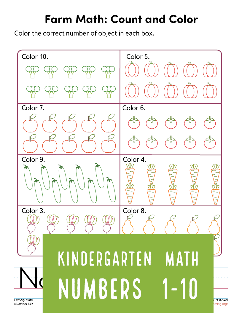 Count And Color Worksheet Part 2 Primarylearning Org Counting For Kids Color Worksheets Coloring For Kids [ 1056 x 816 Pixel ]