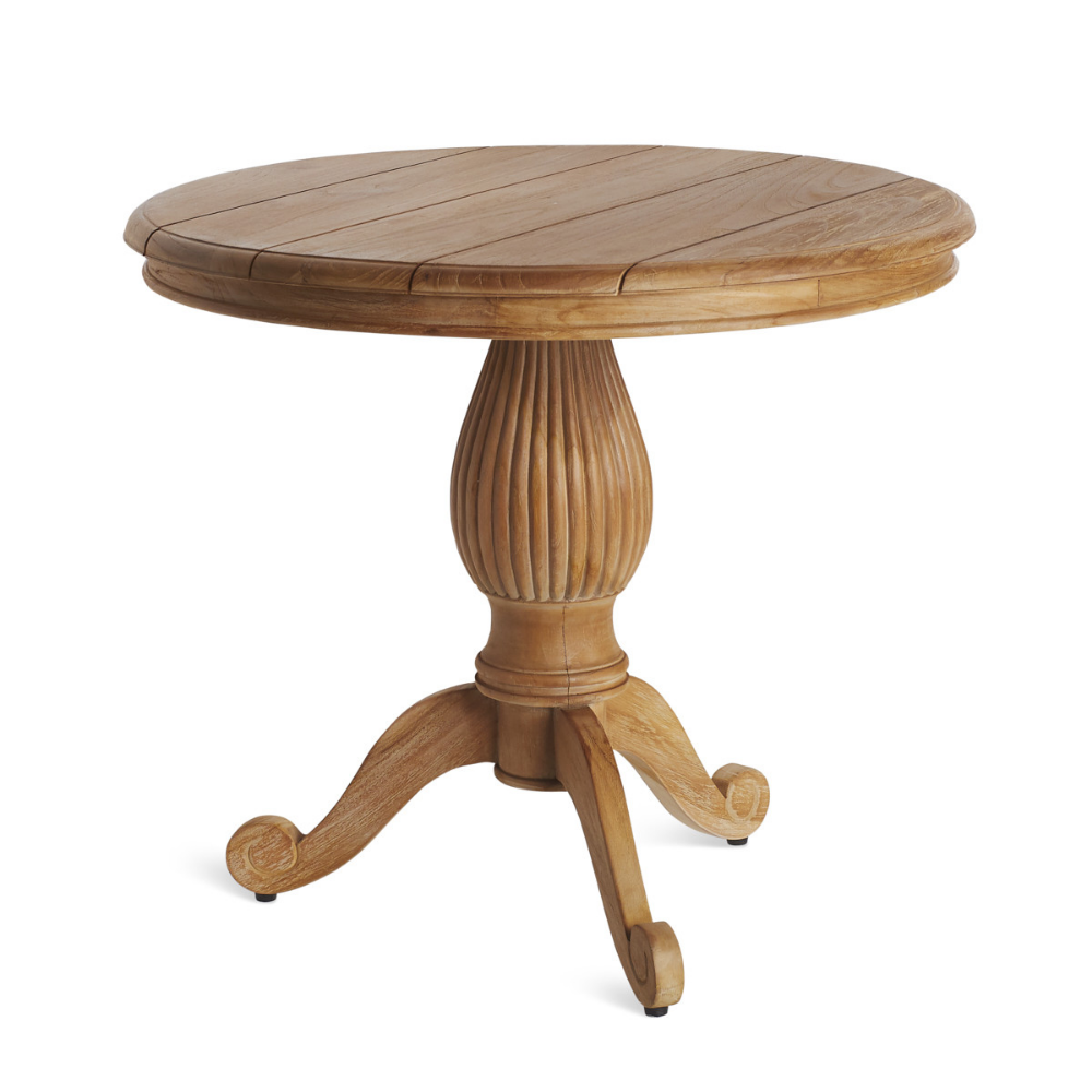 Shop Ada Indoor Outdoor Round Teak Side Table Wisteria Wisteria Teak Side Table Teak Patio Table Side Table [ 1000 x 1000 Pixel ]