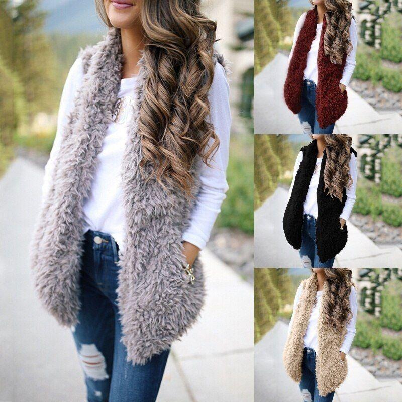2020 Fashion Plus New Fashion Faux Fur Coat Women Faux Fur ...