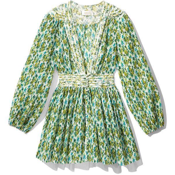 34d7dc0c00f9 Zimmermann Golden Plisse Mini Dress found on Polyvore featuring dresses,  lemonade acid floral, flower printed dress, flower print dress, floral  dresses, ...